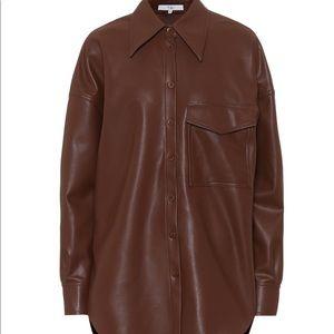 Tibi oversized faux leather shirt XS